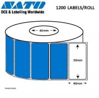 LABEL  50x40 P/TT 1200LPR SYN 40mm 24 ROLLS PER BOX